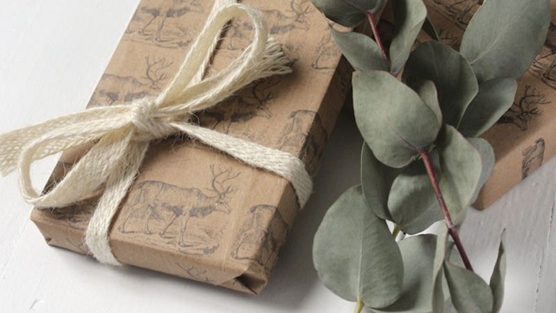paquet cadeau vintage noel