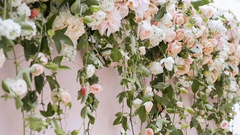 photobooth floral mariage diy