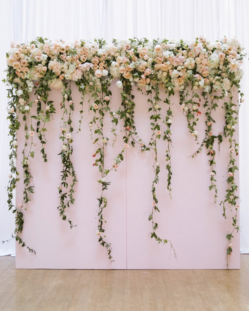 photobooth floral mariage diy