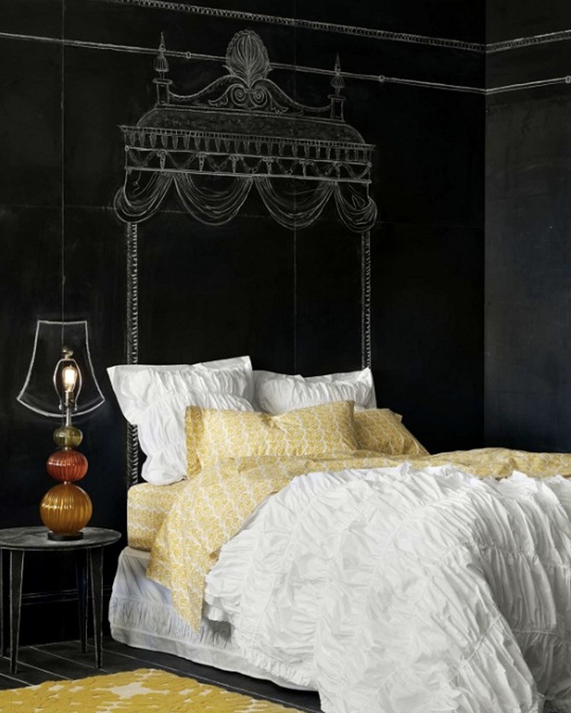 une t te de lit en ardoise diy shake my blog. Black Bedroom Furniture Sets. Home Design Ideas