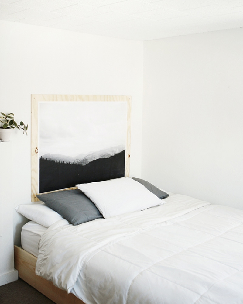 une t te de lit diy en contreplaqu shake my blog. Black Bedroom Furniture Sets. Home Design Ideas