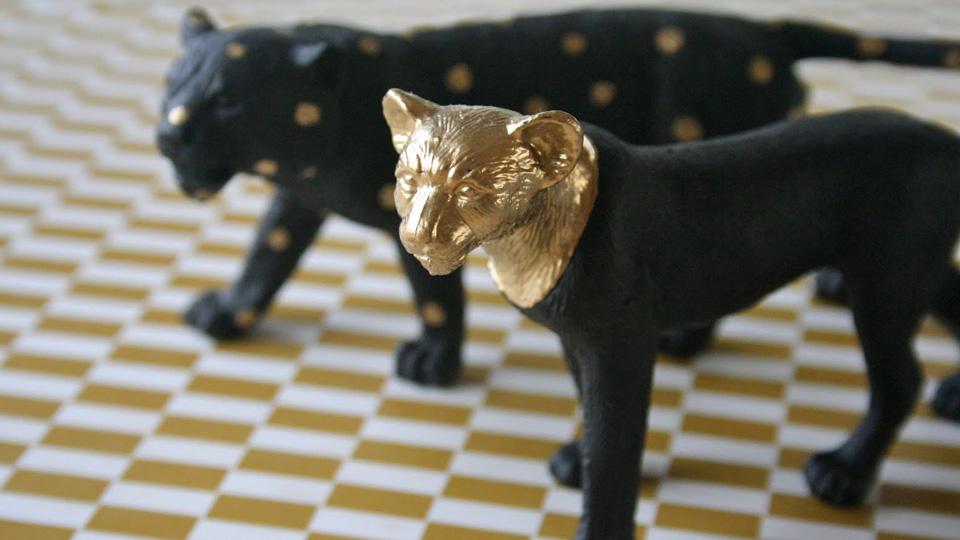 animal plastique peint diy
