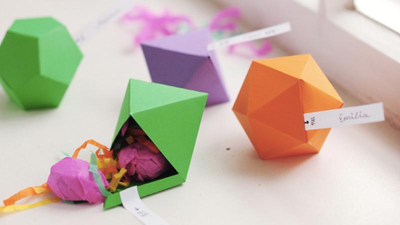 boite cadeau géométrique noel