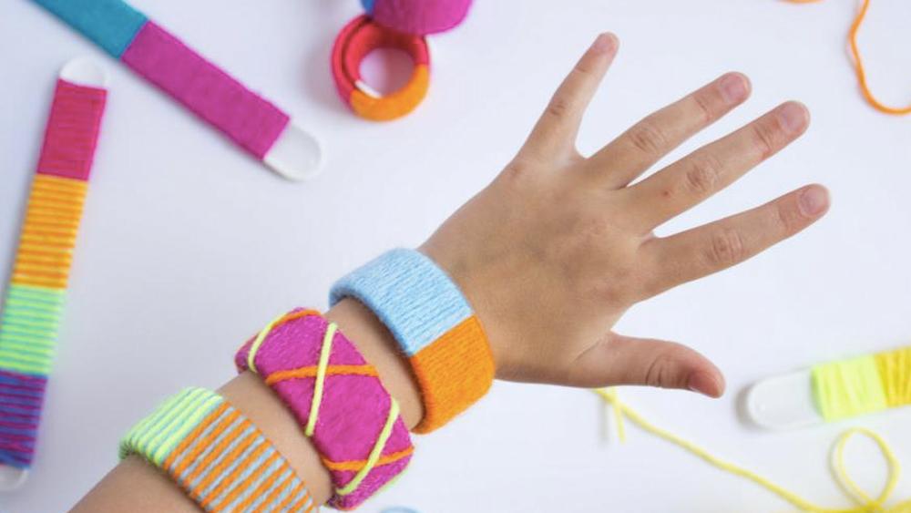 bracelet bicolore laine diy