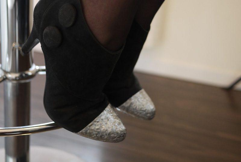 chaussure paillette diy