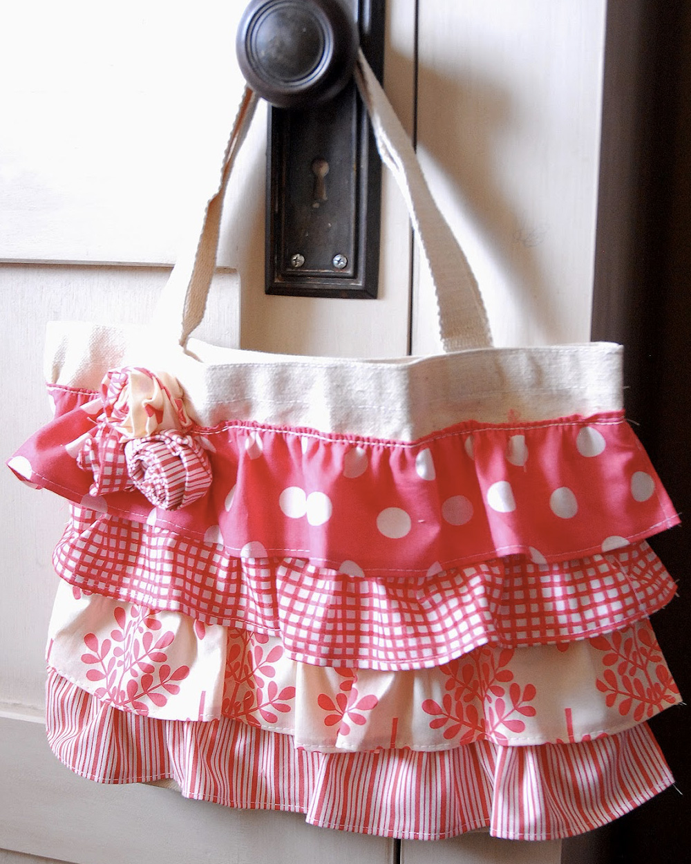 ruffled bag diy sac