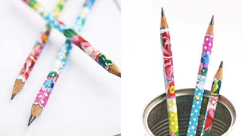 crayon personnalisé papier diy