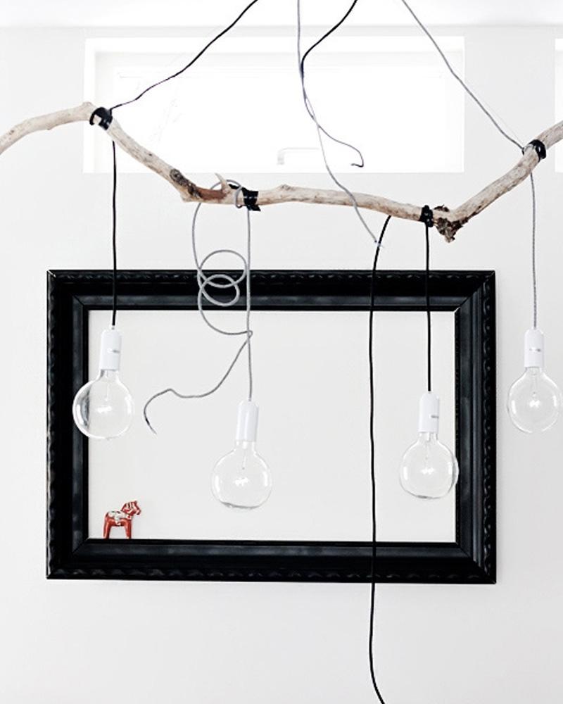 suspension branche diy