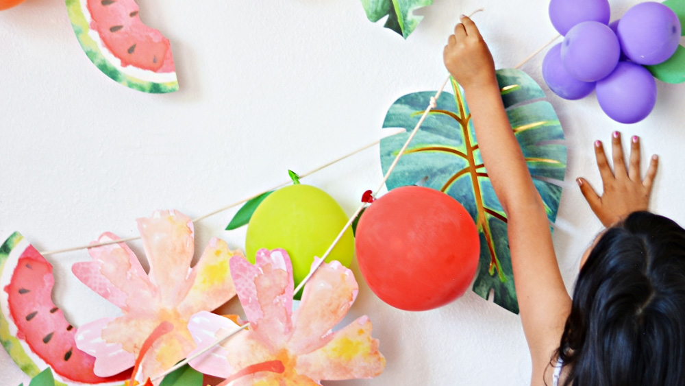 ballon fruit diy