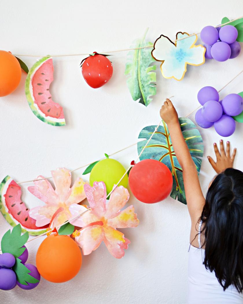 ballon fruit diy peinture
