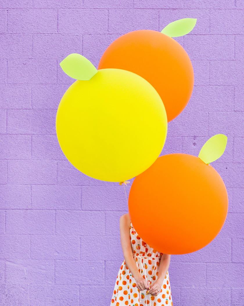 ballon fruit diy citron géant