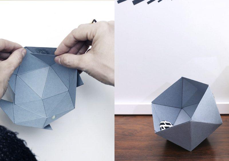 boite géométrique diy