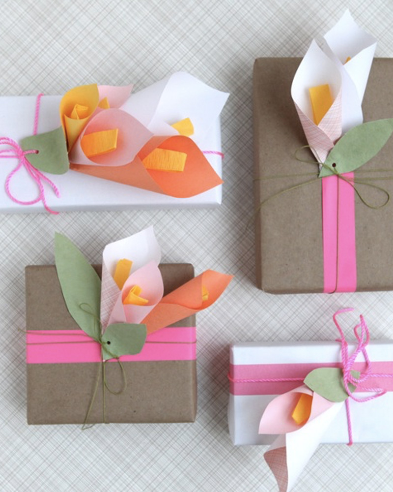 paquet cadeau fleur diy fête des meres