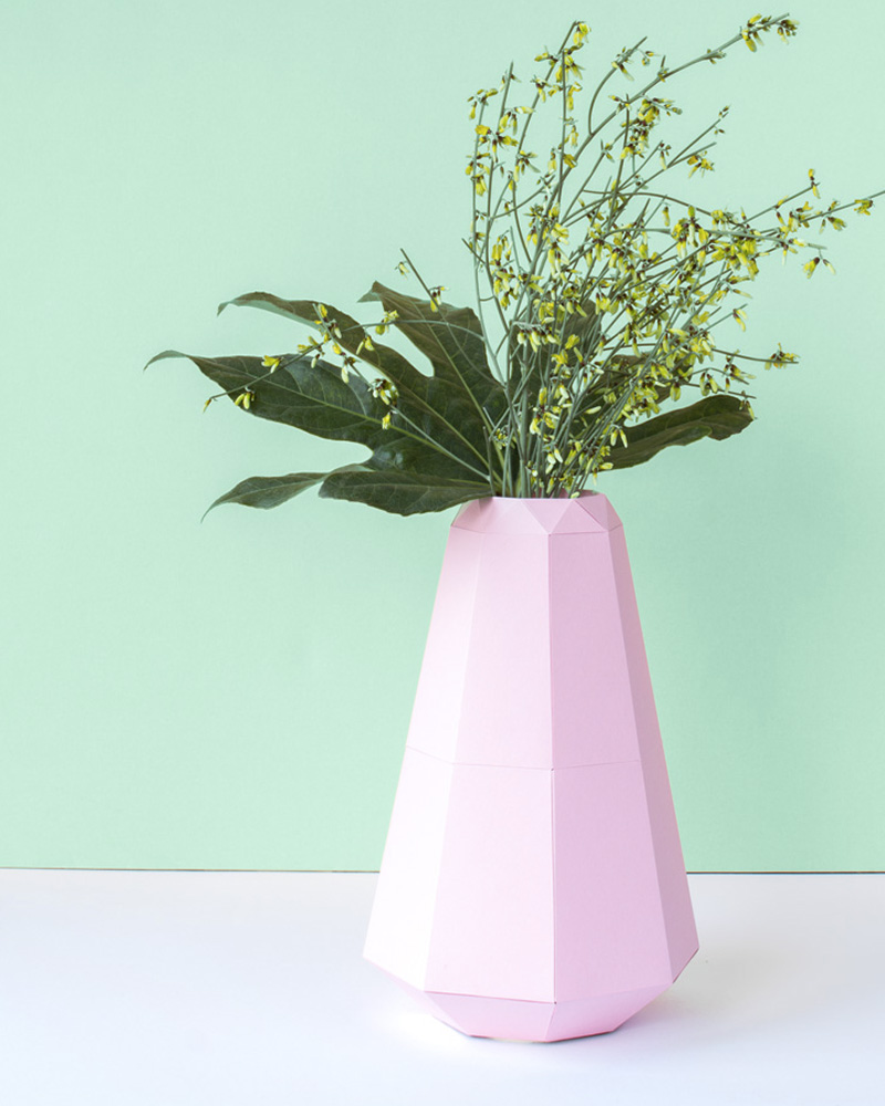 vase papier diy