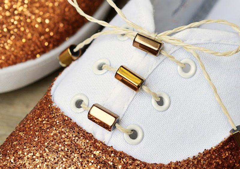 chaussures paillettes diy