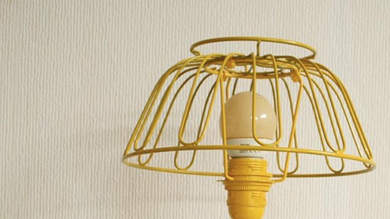 lampe panier métal récup diy