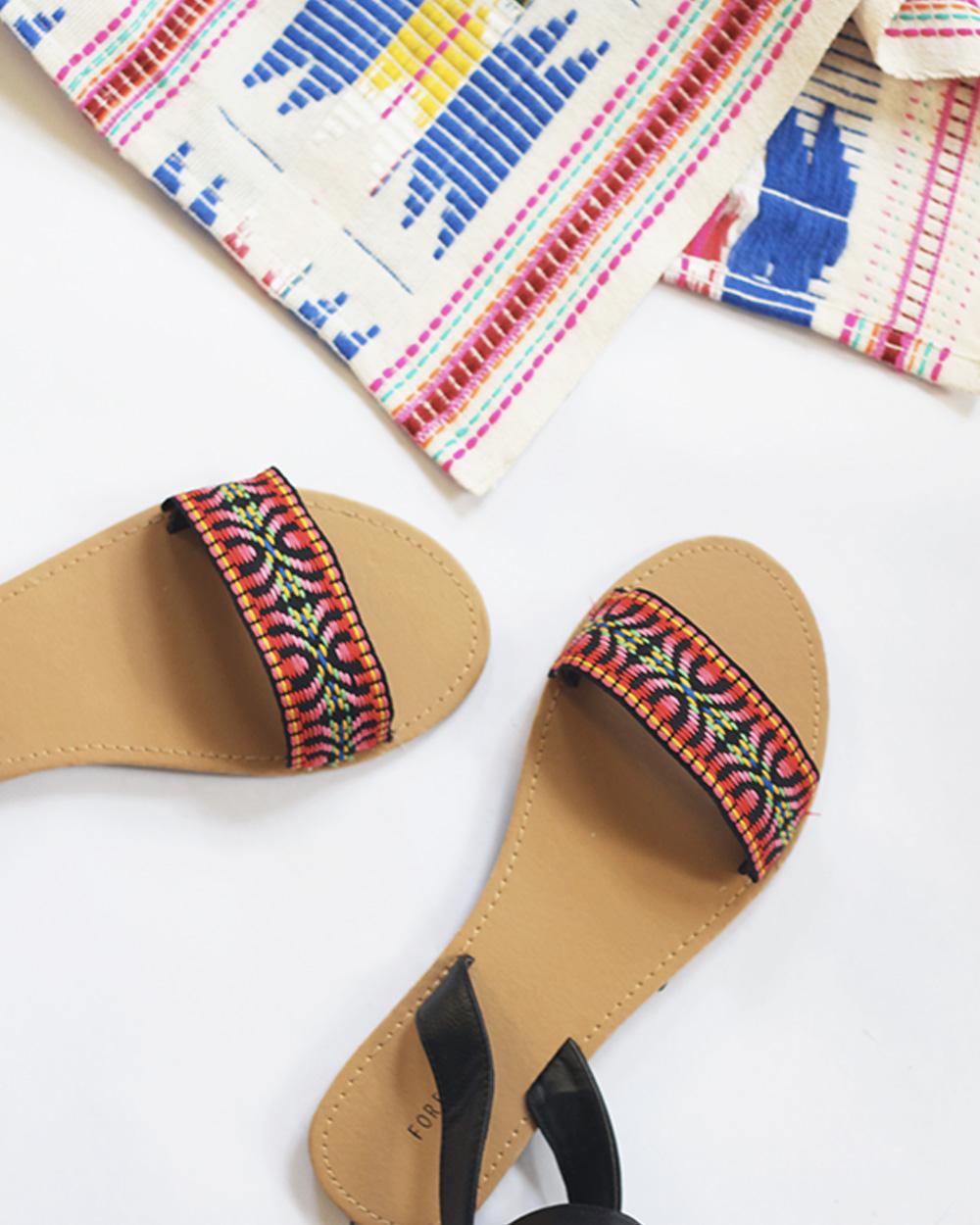 chaussure tribale diy