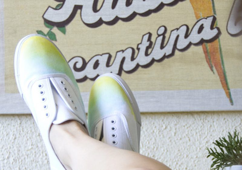 chaussure watercolor diy