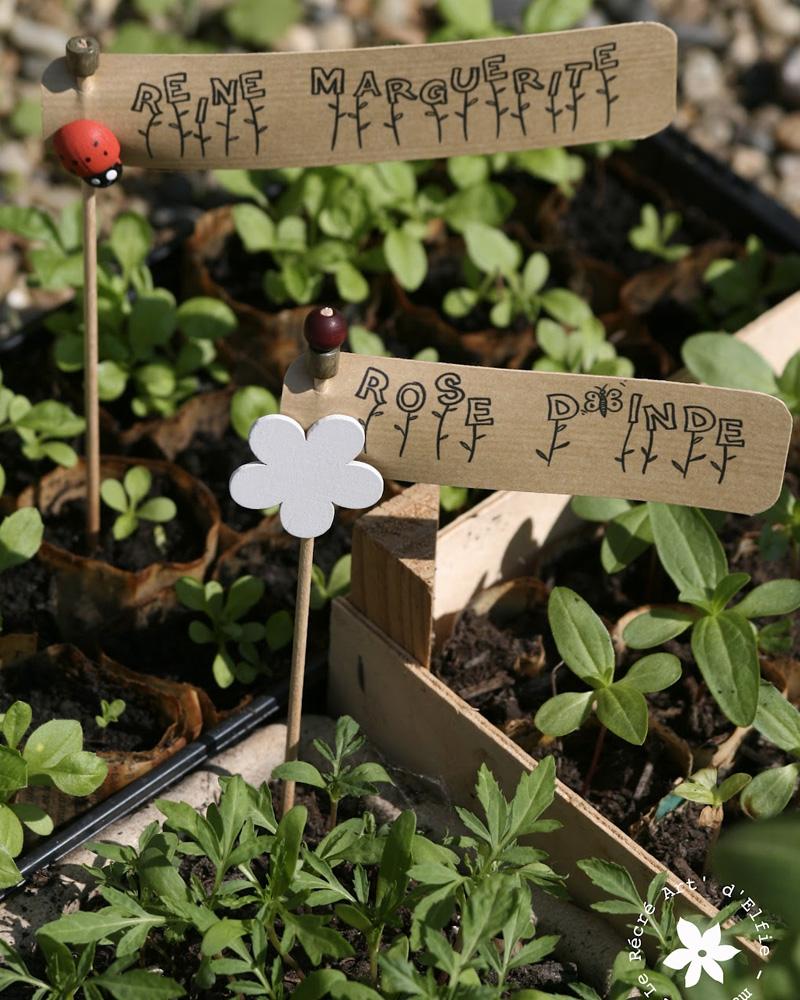 marqueur plante diy papier kraft