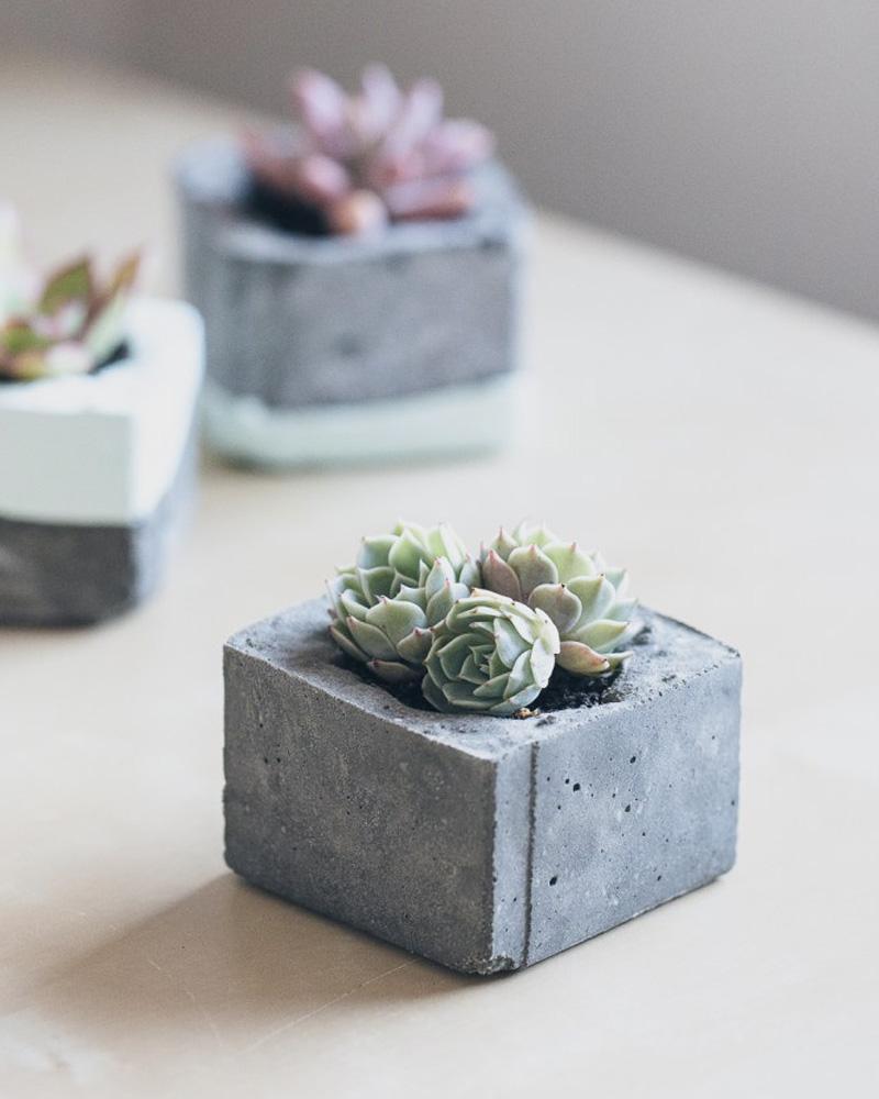 mini pot beton diy