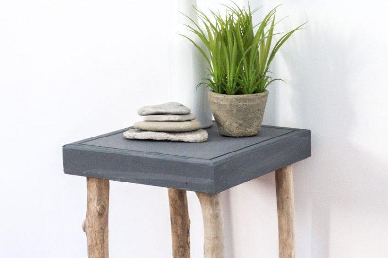 maisons du monde table de chevet table de chevet bidon en mtal noire l cm with maisons du monde. Black Bedroom Furniture Sets. Home Design Ideas
