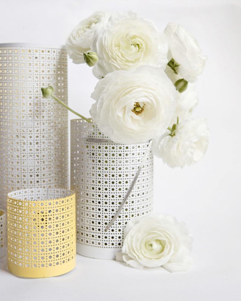vase métallique diy