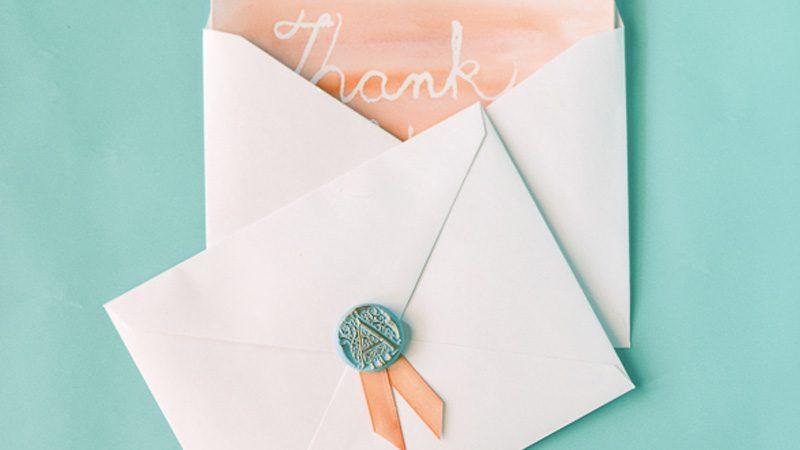 carte remerciement mariage diy watercolor