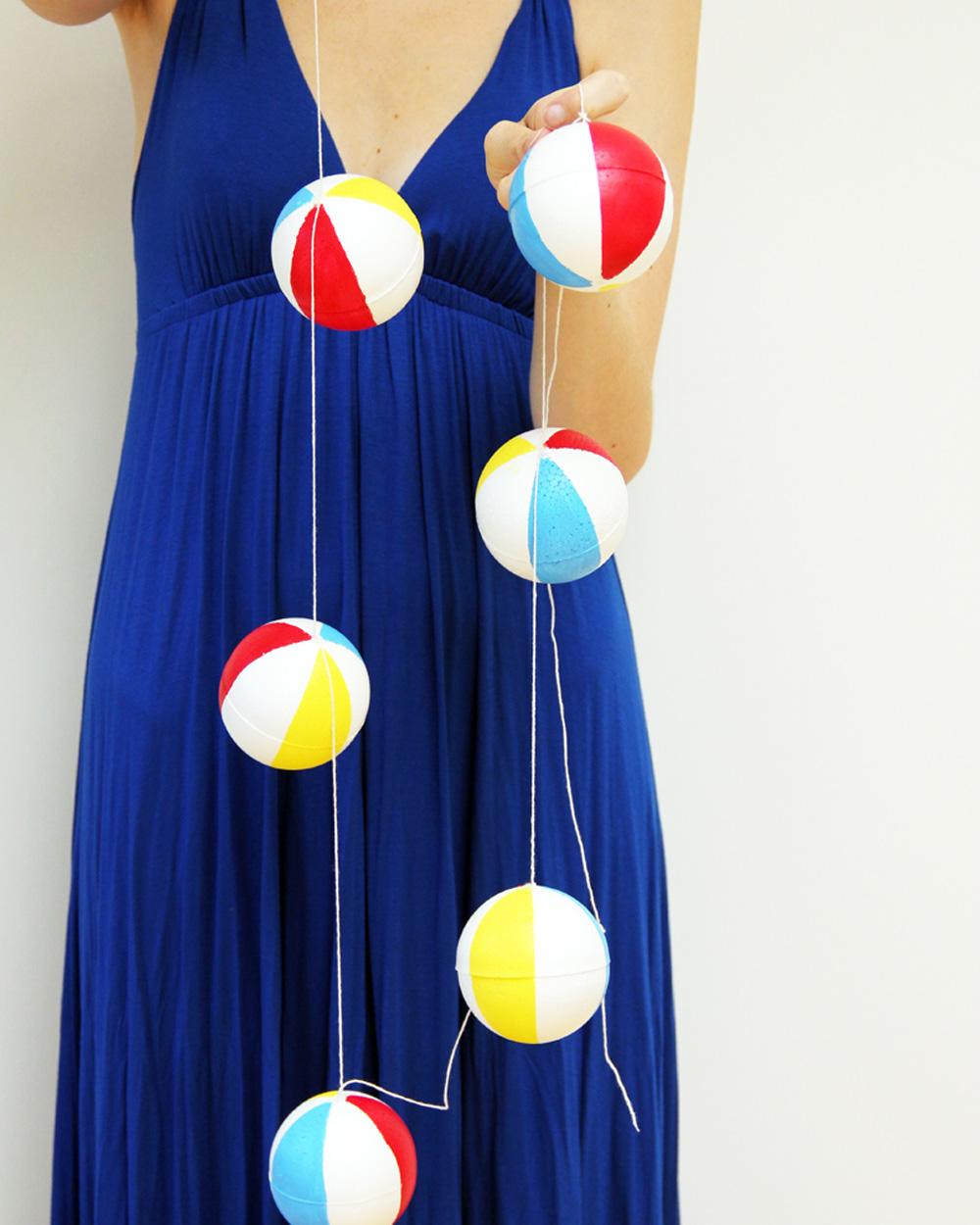 guirlande ballon plage diy