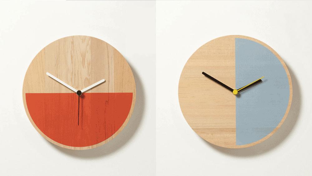 horloge colorée diy