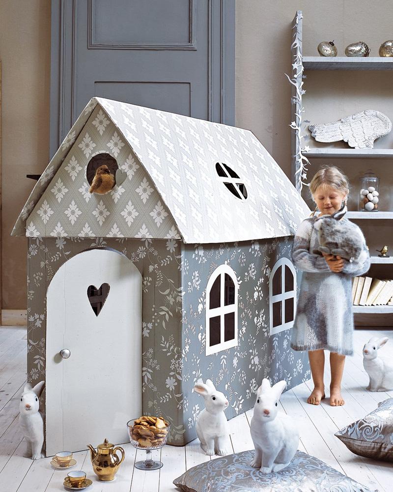 cabane enfant carton diy