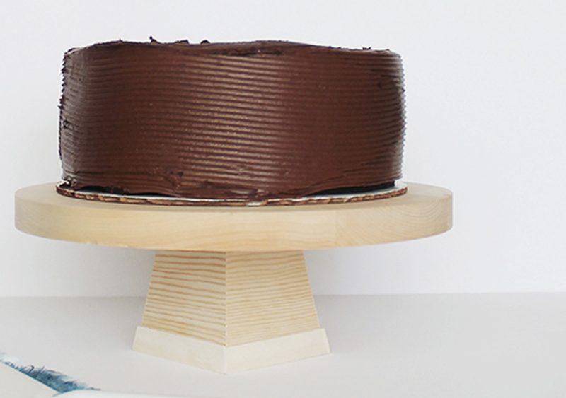 cakestand bois diy