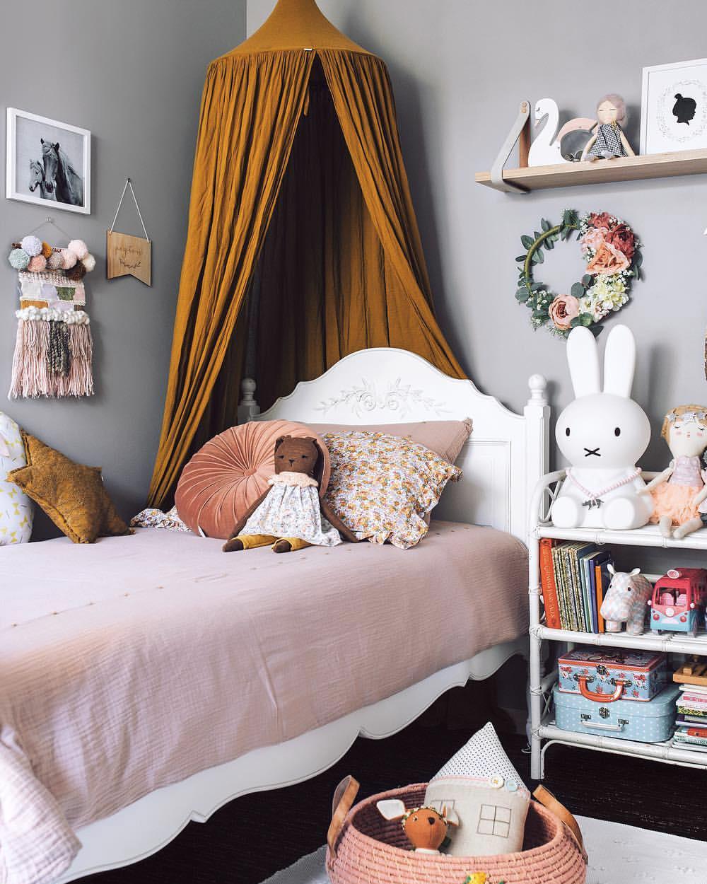 deco chambre fille orange