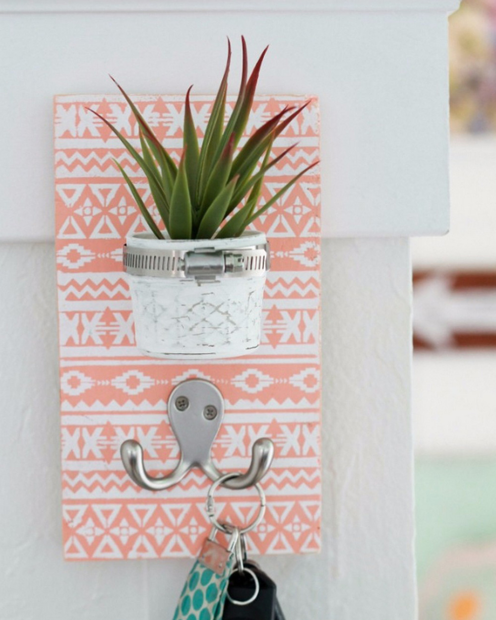 diy porte manteau bocal