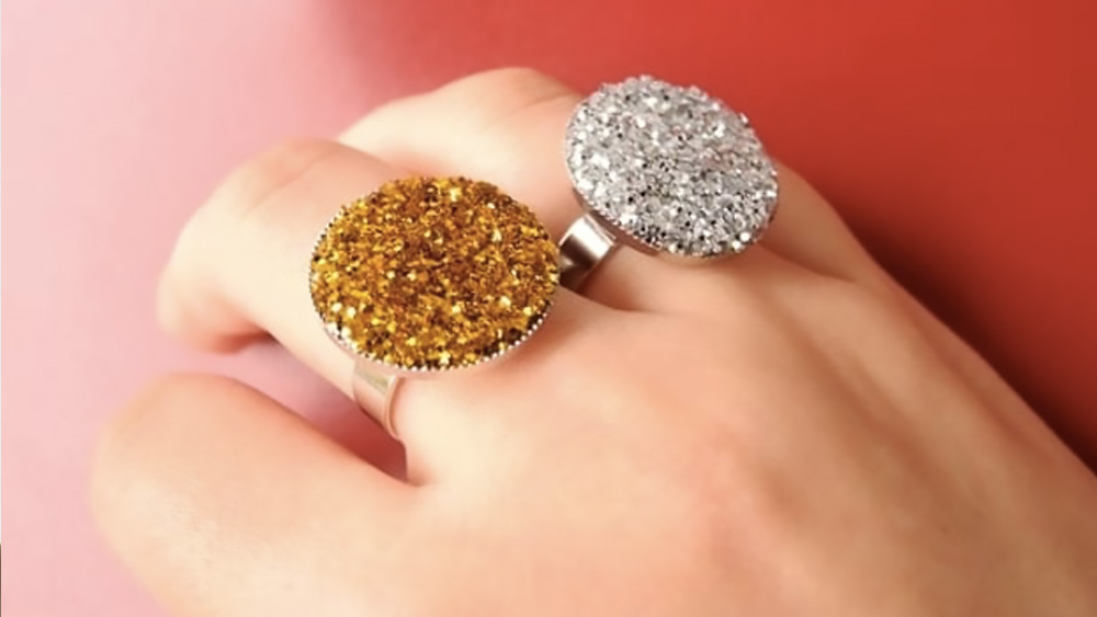 bague paillette diy