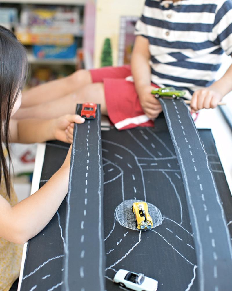circuit voiture enfant magnétique diy