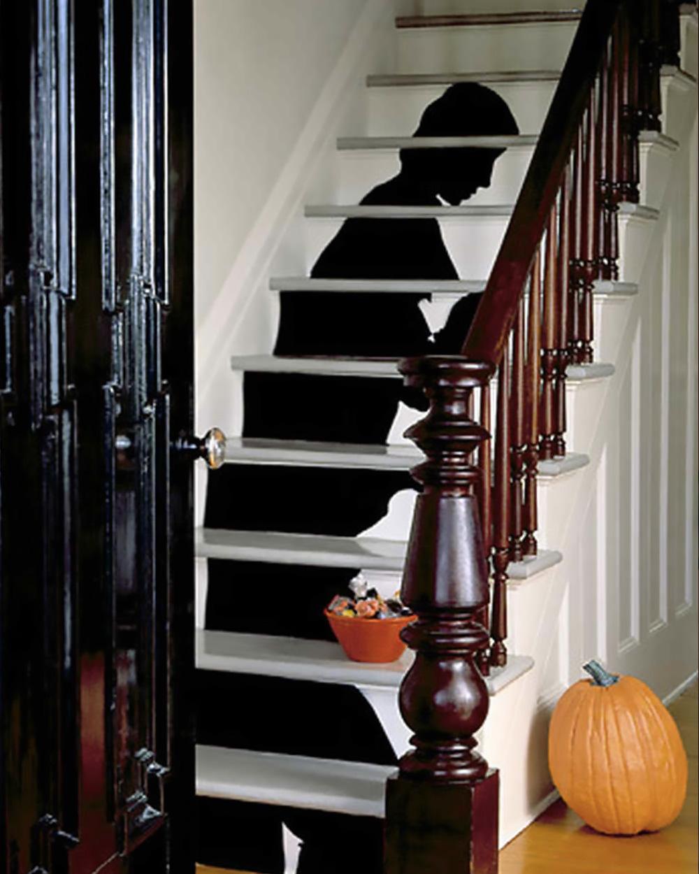 deco escalier halloween ombre
