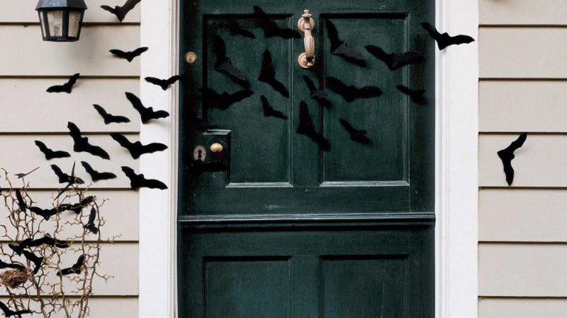 D corer une porte pour halloween shake my blog - Decorer une porte ...