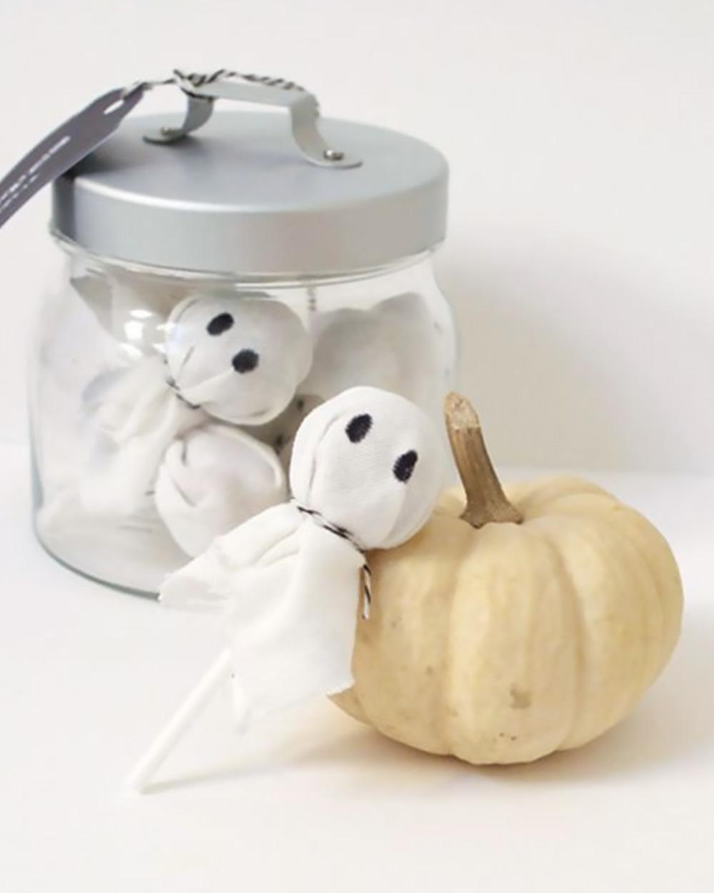 diy deco table halloween sucette fantôme