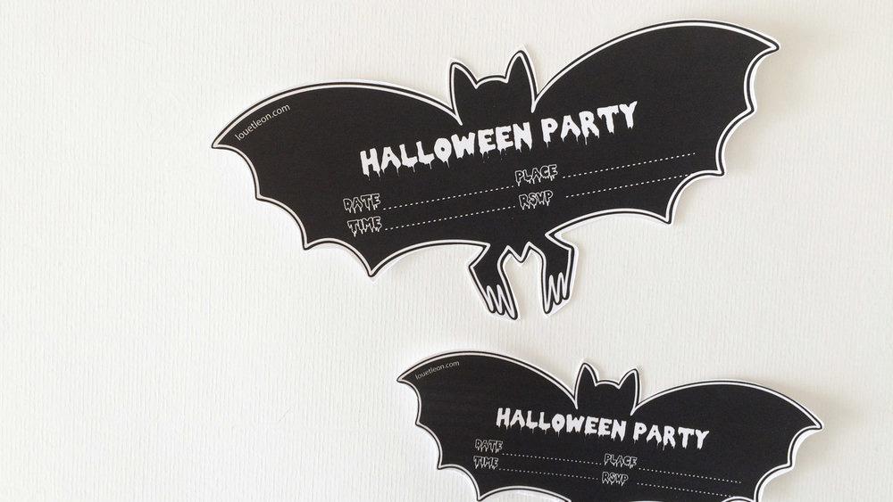 invitation chauve souris à imprimer halloween