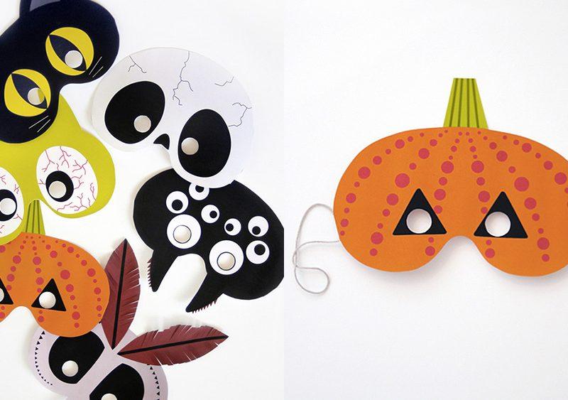 maque a imprimer diy halloween