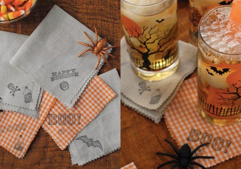 serviette diy halloween