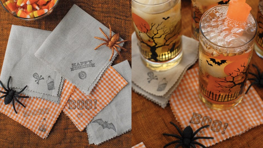 serviette diy halloween
