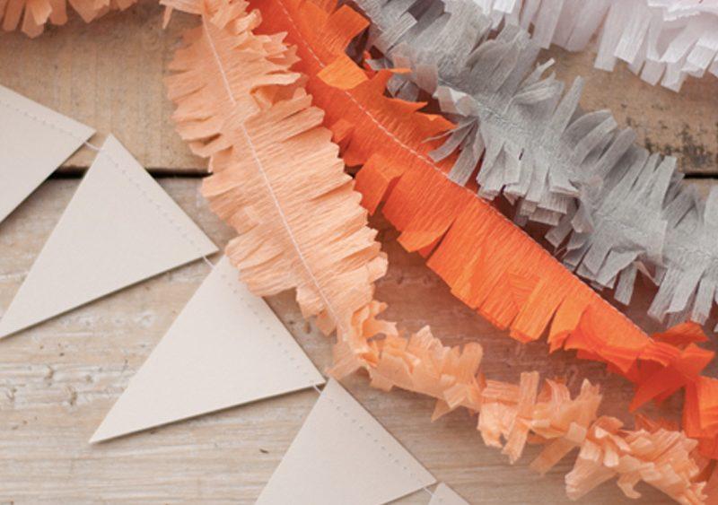 guirlande frange diy papier crépon
