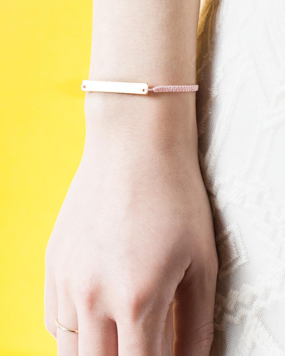 bracelet macramé diy