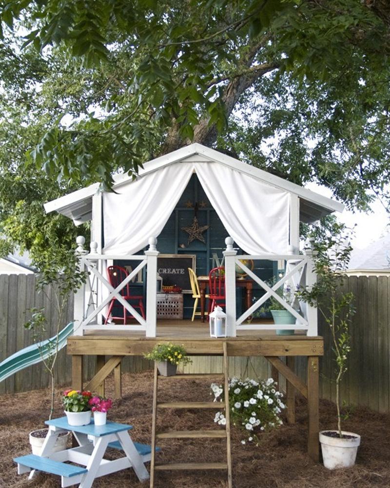 cabane enfant diy jardin