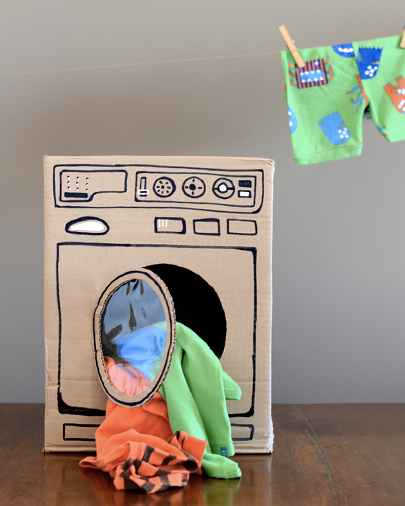 machine a laver diy carton