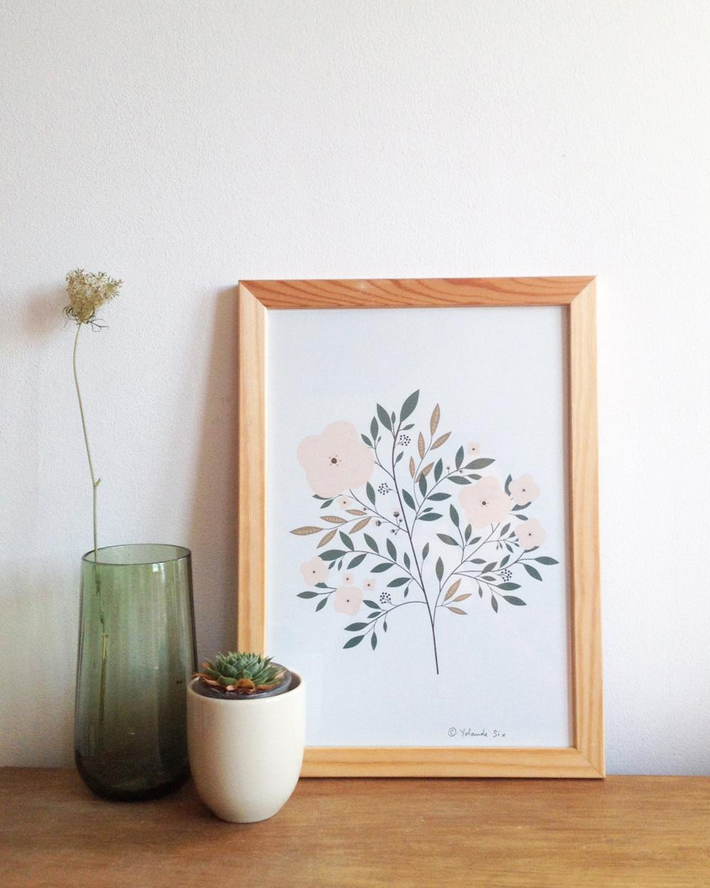 illustration végétale fleurs
