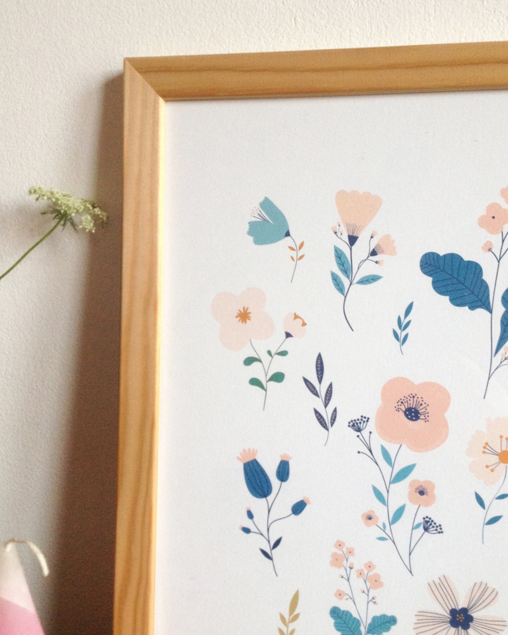 affiche fleurs