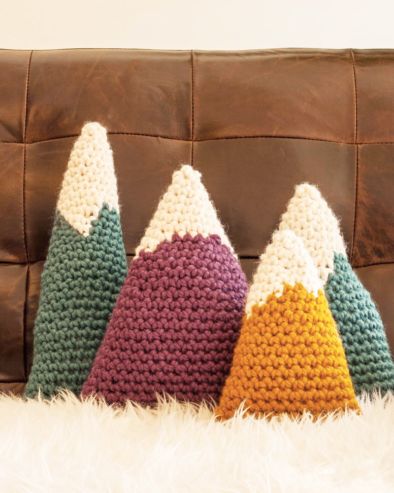 coussin montage tricot diy