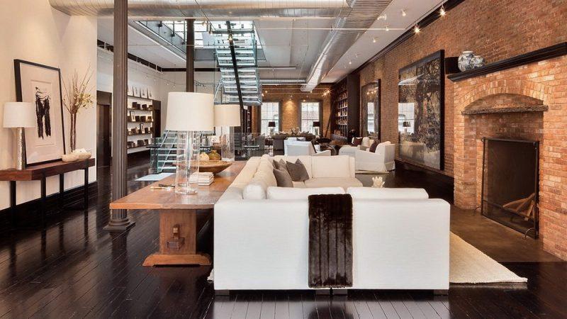 deco salon loft new york. Black Bedroom Furniture Sets. Home Design Ideas